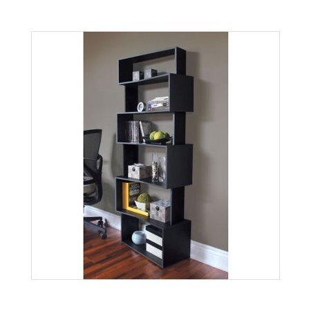 Nexxt Modera Staggered Bookshelf In Black