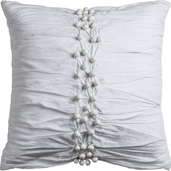 "Rizzy Home One Of A Kind Cotton Voile White Pillow 20"" X 20"""