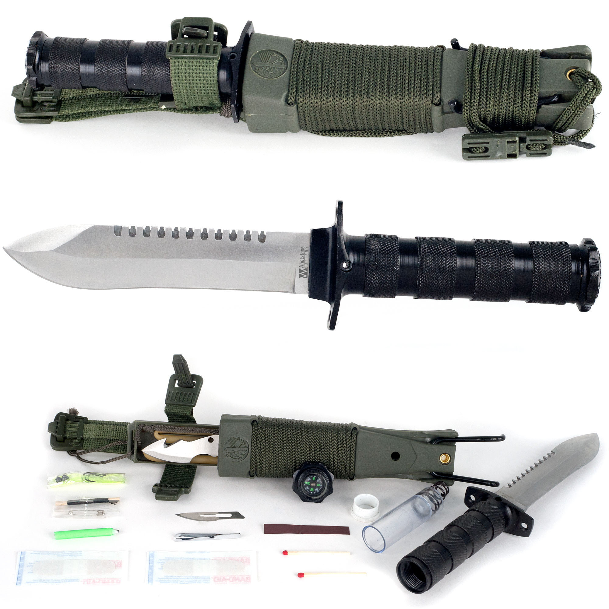 Anchored Eagle Survival Knife with Sheath by Whestone by Trademark Global LLC