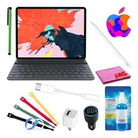 """Apple 12.9"""" iPad Pro Smart Keyboard (3rd Gen) Bundle with Apple Pencil + Adapter"""