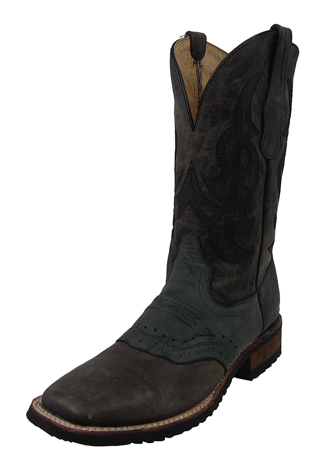 5441efce1db Circle G by Corral Men's Grey Embroidery Rubber Sole Spur Guard Square Toe  Cowboy Boots L5303 (13 EE(W) US)