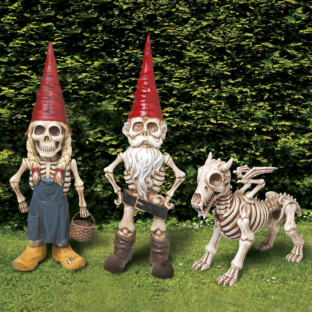 Exclusive Man Woman And Dragon Skel A Gnome Skeleton Garden Statue  Sculpture Set   Walmart.com