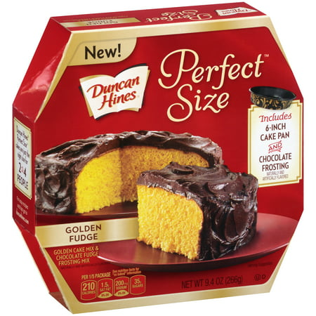 Duncan Hines® Perfect Size⢠Golden Cake Mix & Chocolate Fudge Frosting Mix 9.4 oz. (Best Chocolate Cake Recipe Ina Garten)