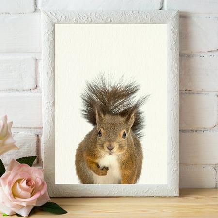Baby Woodland Squirrel Nursery Wall Décor Farm Animal Art Print