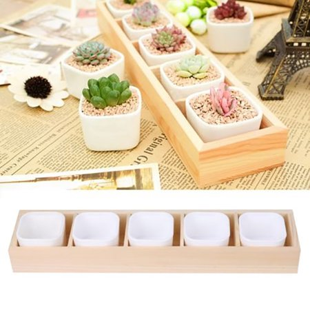 Girl12Queen Succulent Plant Flower Decorative Square Pot Garden 2 Hole Box Container - Small Clay Flower Pots