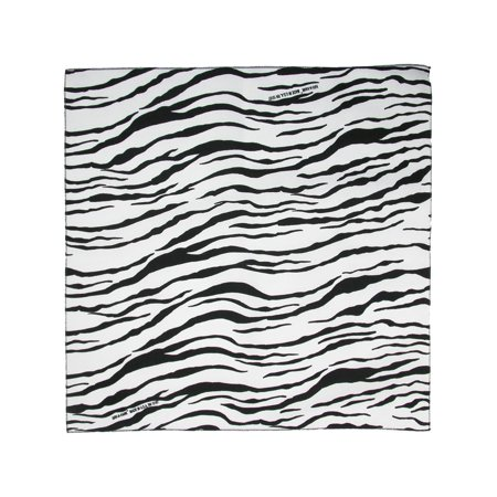 CTM®  Womens Cotton Zebra Print Bandanas, White