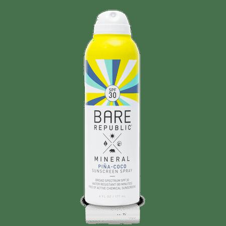 Bare Republic Mineral SPF 30 Pina-Coco Sunscreen Spray, 6 Fl Oz.