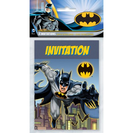Batman Invitations, 8ct (Custom Batman Invitations)
