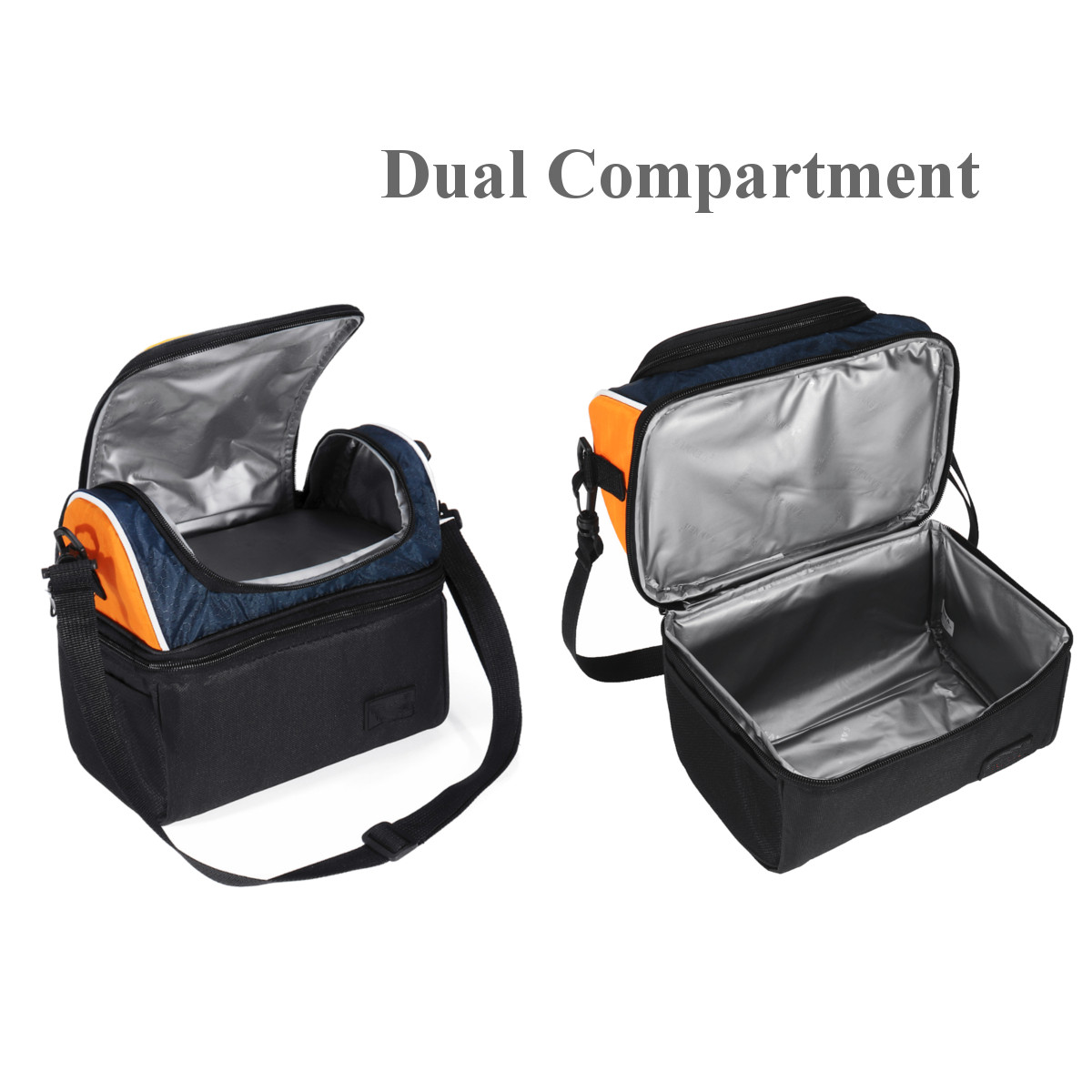 Large/Medium Capacity Waterproof travelingbag Insulated Lunch Cooler Bag Box Tote Large Capacity Work School Travel Picnic Hot Cold For Men Women Kids Shoulder Strap