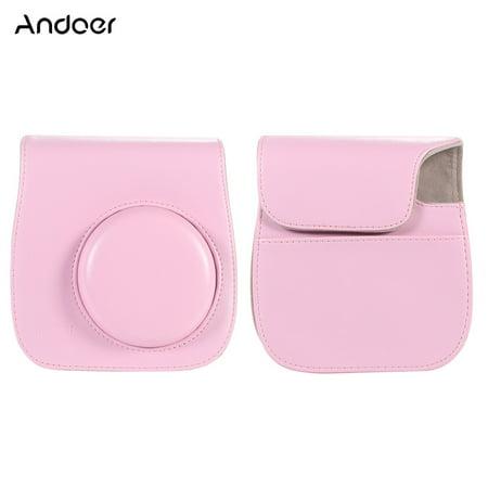 Andoer Leather Camera Case Bag Cover for Fuji Fujifilm Instax Mini 8/8s/8+/9 Single Shoulder Bag - image 1 of 1