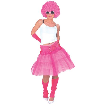 Pink Material Girl Skirt Adult Halloween Accessory - Halloween Fashion Editorial