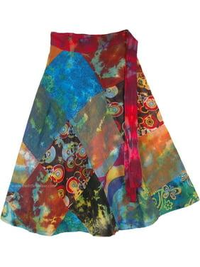 11c1f6d026 Product Image Patchwork Multicolor Cotton Summer Short Skirt