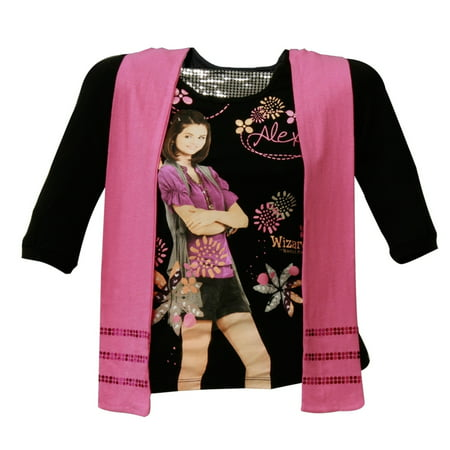 Wizards Of Waverly - Alex Flowers Girls Youth Long Sleeve T-Shirt w/ Scarf