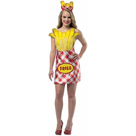 Women's French Fry Foodie Dress - Frises Halloween