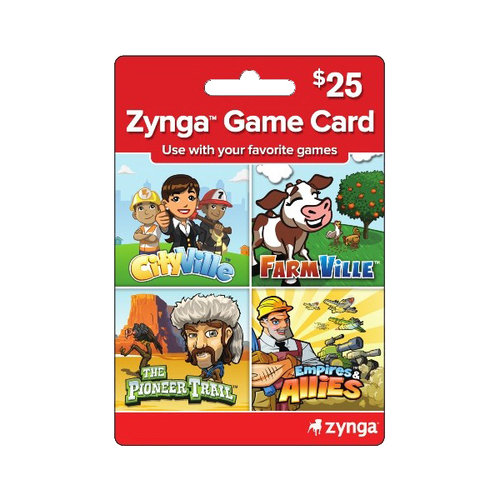 Zynga Universal Game Card, $25