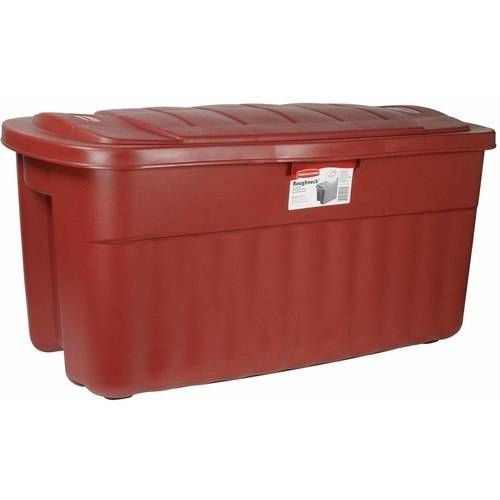 Rubbermaid 40 Gallon Roughtote Jumbo Storage Box FG2547CPDIM - Pack of 8