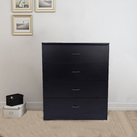 UBesGoo Black Chest of Drawers Dresser Wood Organizer Cabinet Furniture for  Bedroom