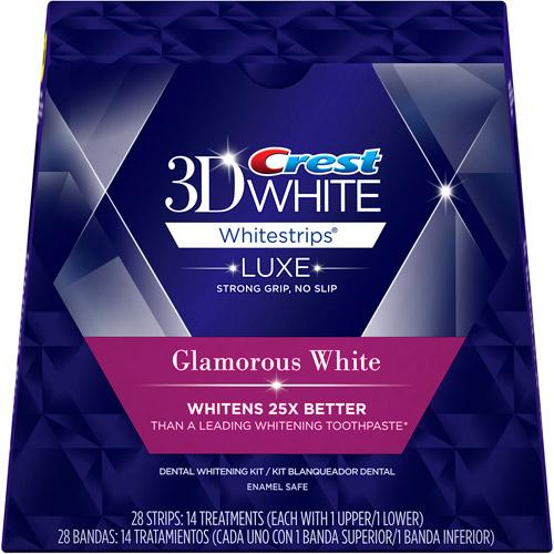 Crest 3D White Luxe Whitestrips Glamorous White Teeth Whitening Kit, 14 Treatments