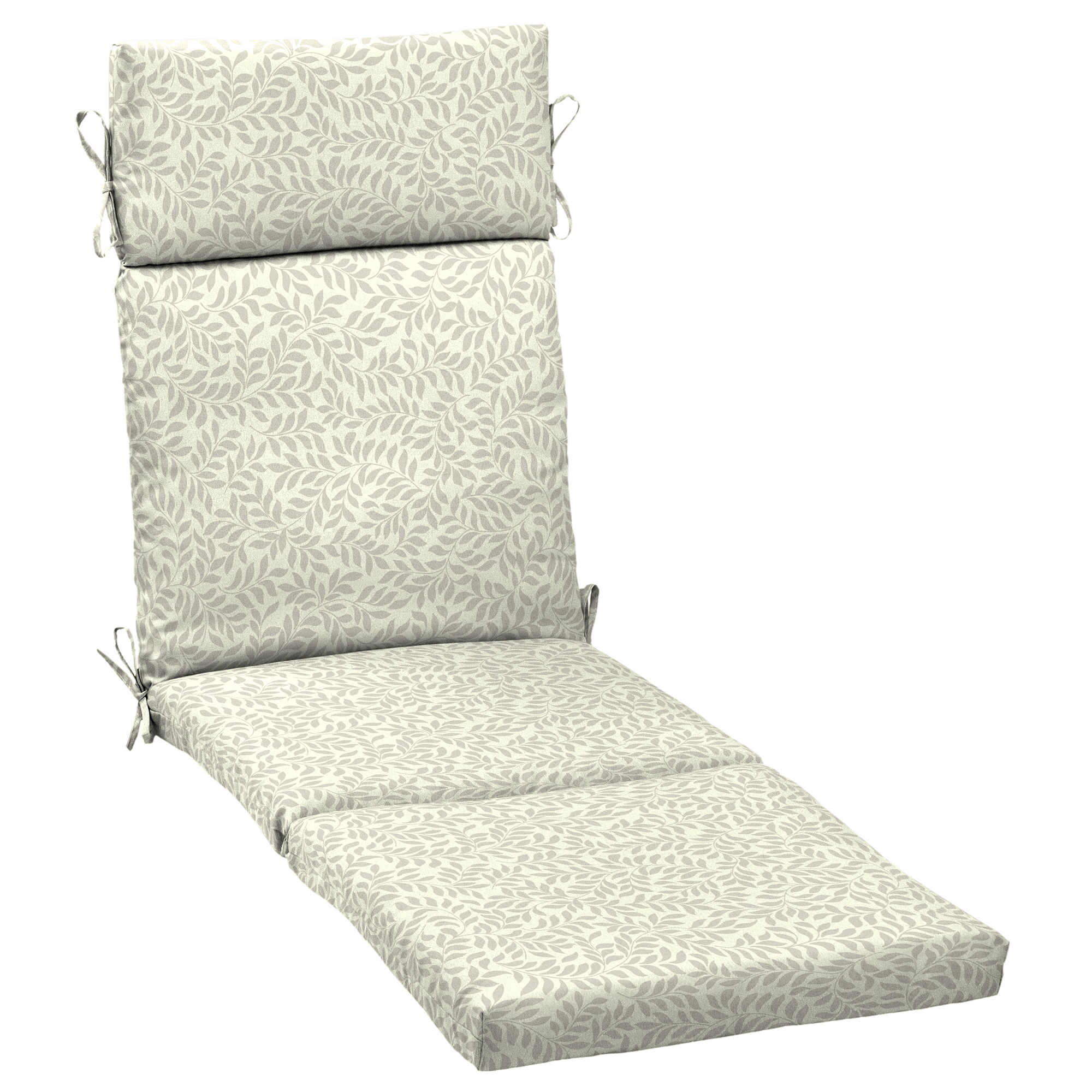 Better Homes & Gardens Ivory Leaf Outdoor Chaise Lounge Cushion