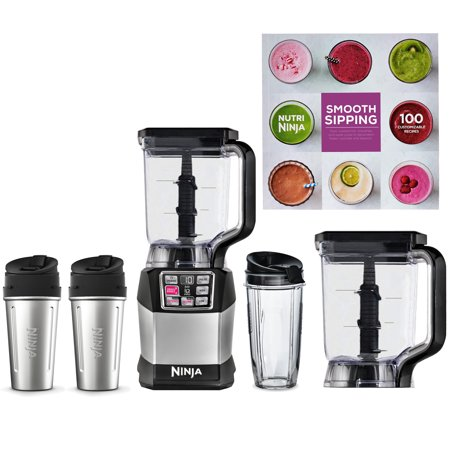 Ninja Auto IQ Blender System + 2 72oz Pitchers + 3 Nutri Ninja Cups + Cook Book