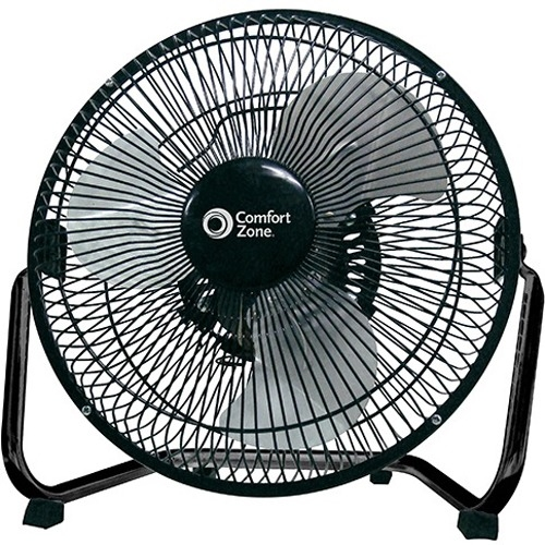 "Comfort Zone 9"" HV 3-Speed All Metal Cradle Fan"