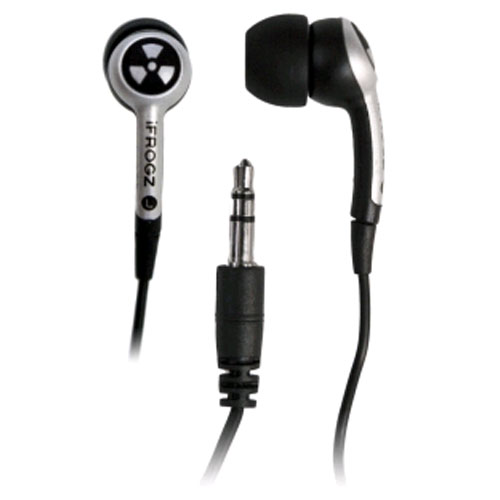 iFrogz EarPollution Plugz 3.5 mm Headphones with Noise Isolation - Silver