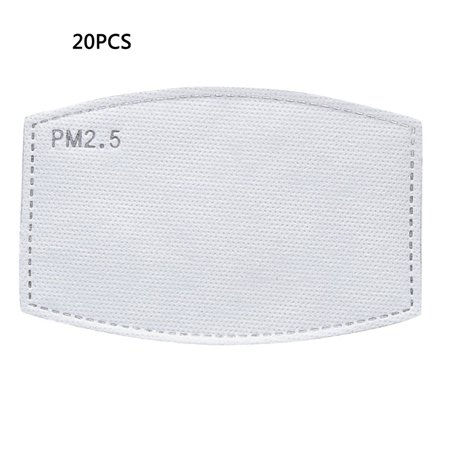 6-Layer Protective Filter Pads Element Activated Carbon Mask Filter PM2.5 Filter for Adults and Children 1/5/10/20/30 /50pcs - image 1 de 8