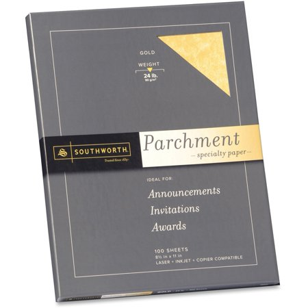 Southworth, SOUP994CK, Parchment Specialty Paper, 100 / Pack, Gold (Southworth Parchment Paper)