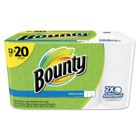 Bounty Paper Towels  Select A Size  12 Mega Rolls