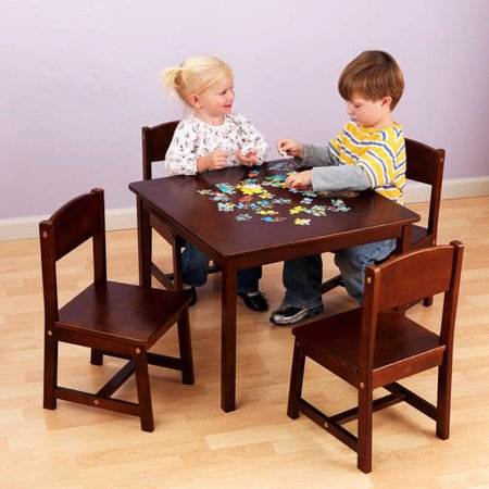 KidKraft Farmhouse Table and 4 Chairs Set, Multiple Colors - Walmart.com