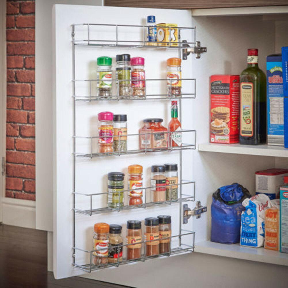 EBTOOLS 20/20/20 Tier Spice Rack Wall Mount Kitchen Door Jar Cabinet ...