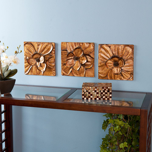 Southern Enterprises Magnolia 3-Piece Wall Panel Set