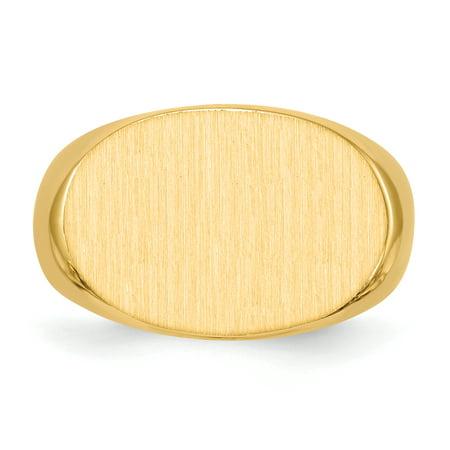 14K Yellow Gold Men's Signet Ring - image 2 de 5