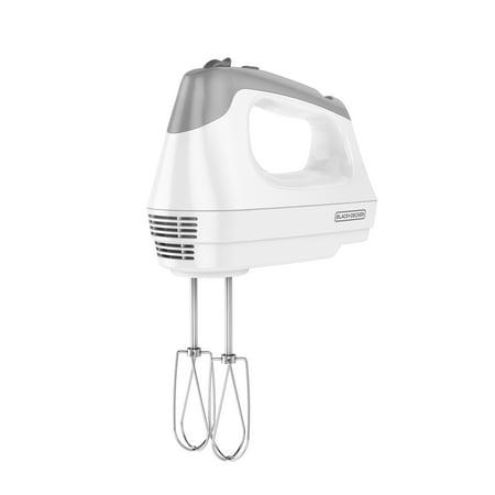BLACK+DECKER 6-Speed Hand Mixer with Power Boost, White,
