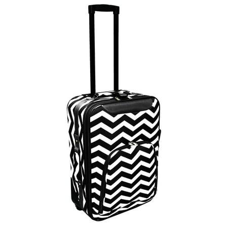 Ballistic Nylon Suitcase - Chevron Print 20 Rolling Carry-On Luggage Suitcase