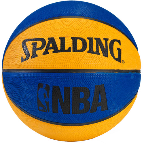 "Spalding 7"" NBA Mini Basketball, Blue/Orange"