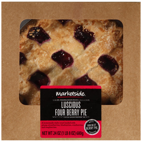 Marketside Luscious Four Berry Pie, 24 oz