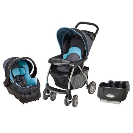ac53f2dc29d Evenflo Infant Baby Little Journey Travel 300 Car Seat Stroller Bundle Koi  - Walmart.com