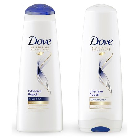 Dove Nutritive Solutions Intensive Repair Shampoo & Conditioner, 12 oz, 2 (Best Damage Repair Shampoo And Conditioner)