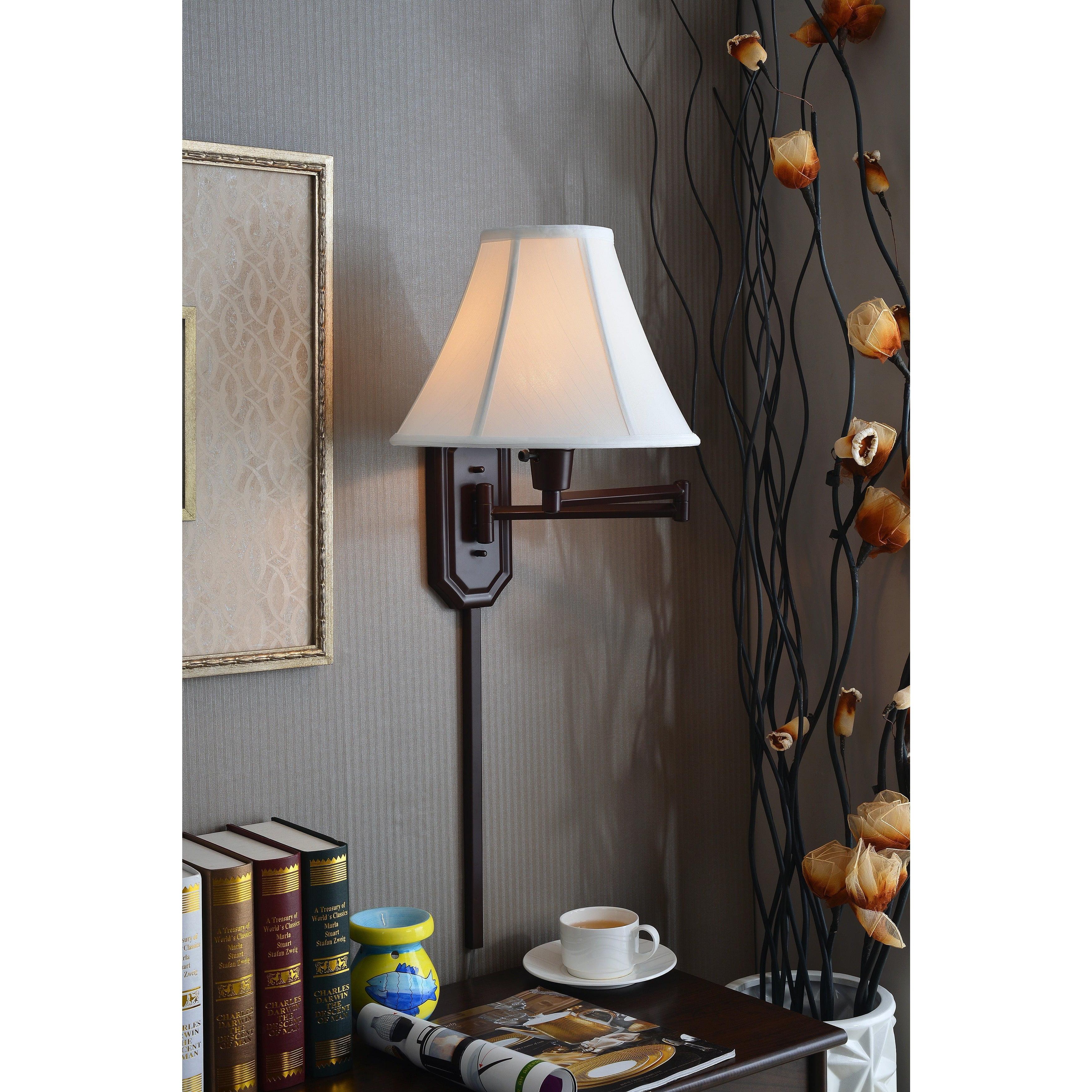Design Craft Myron Wall Swing Arm Light by Overstock