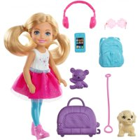 Barbie Chelsea Doll & Travel Set with Puppy & Accessories