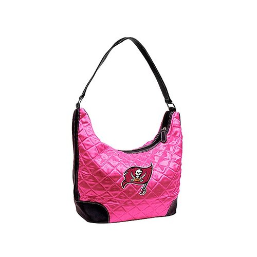 Little Earth NFL Tampa Bay Buccaneers Pink Quilted Hobo Bag