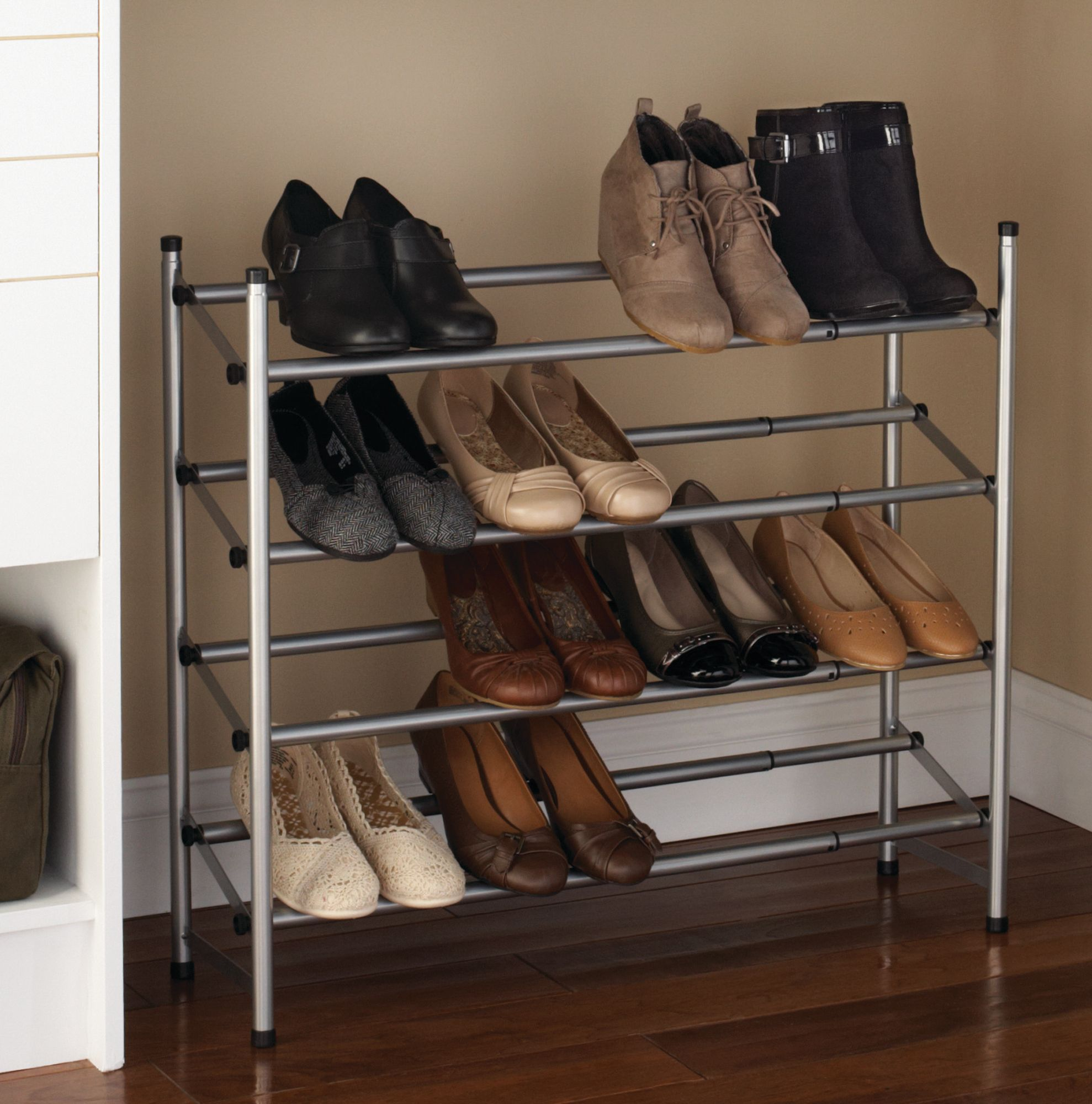 mainstays 4 tier shoe rack walmart