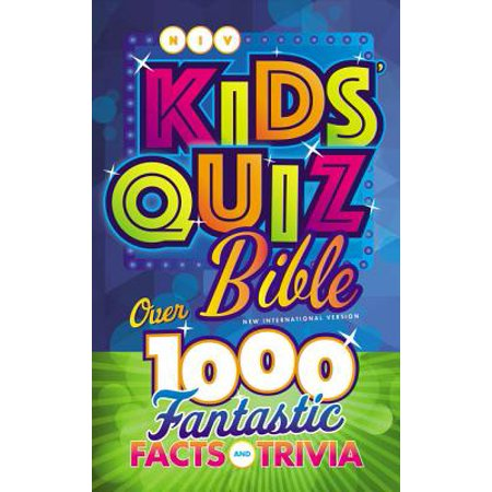 NIV Kids' Quiz Bible, Hardcover : Over 1,000 Fantastic Facts and - Trivia Quiz Halloween
