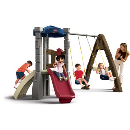 Little tikes endless adventures lookout swing set for Little tikes outdoor playset