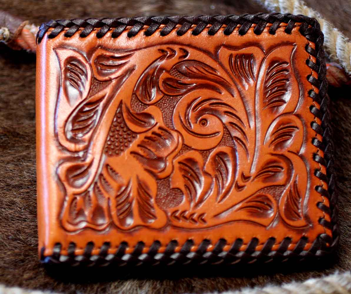 Hand Tooled Classic Western Wallet