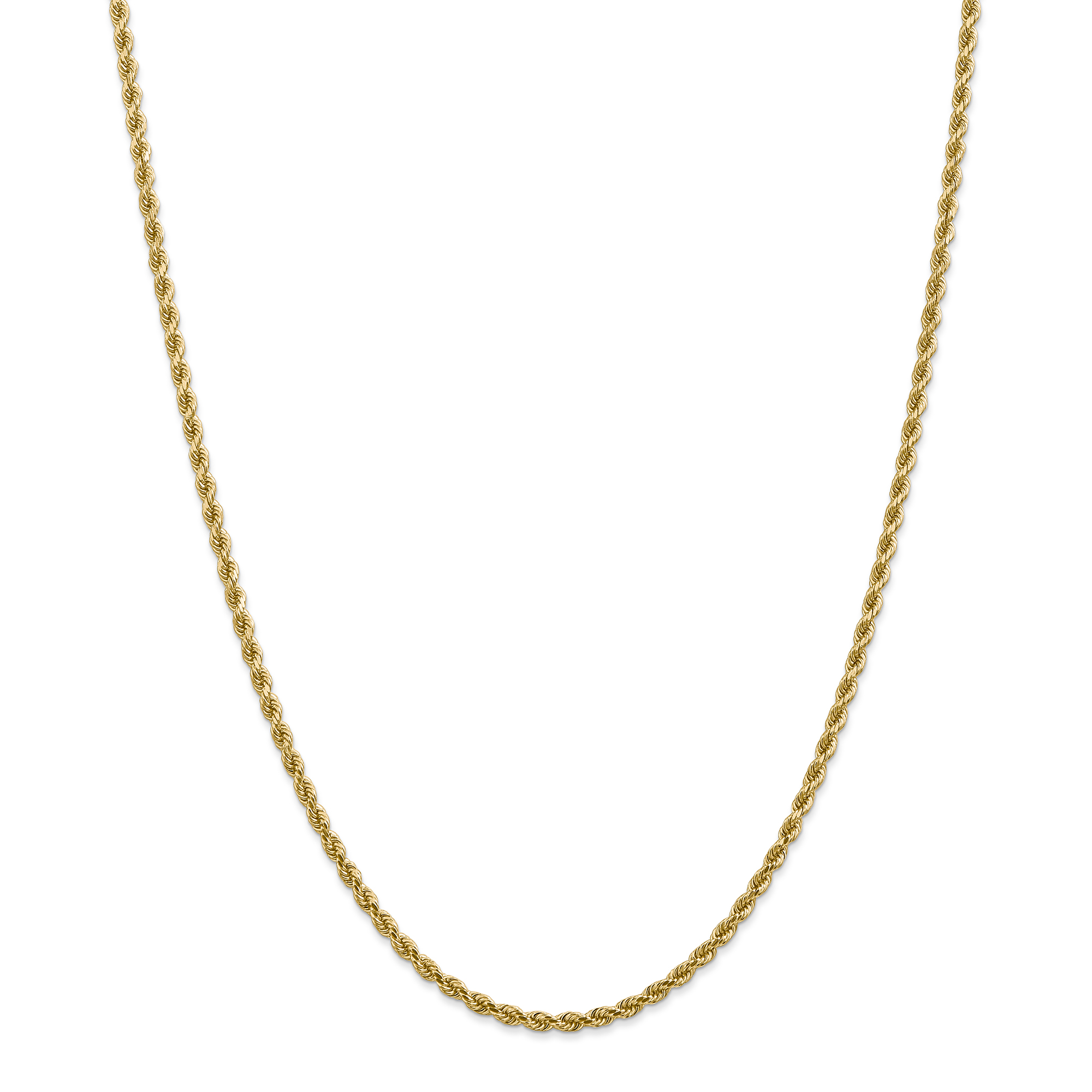 14K Yellow Gold 2.75mm Diamond Cut Rope With Lobster Clasp Chain 18 IN - image 5 of 5