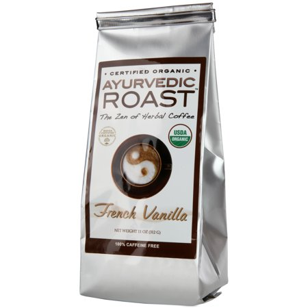 Ayurvedic Roast (Vanilla) - Organic Grain Coffee Substitute with Herbs - Caffeine & Acid Free Natural Herbal Alternative Hot Beverage - Vegan GMO-Free with Barley, Chicory, Rye, Ashwagandha,