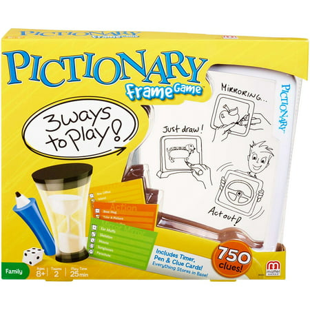Pictionary Frame Game with 3 Ways to Play for 2 Teams Ages (Games To Play Around The Table At Christmas)