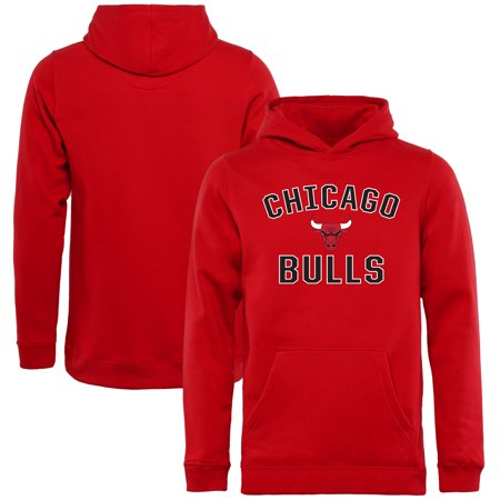 Chicago Bulls Youth Victory Arch Pullover Hoodie - (Chicago Bulls Youth Adidas Fleece)